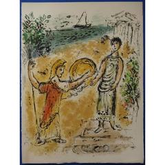 Marc Chagall - Athena and Telemachus - Original Lithograph
