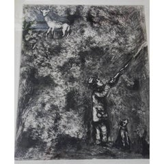 Marc Chagall - Le Cerf et la Vigne - Original Etching