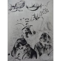 Marc Chagall - Les âmes mortes - Original Engraving