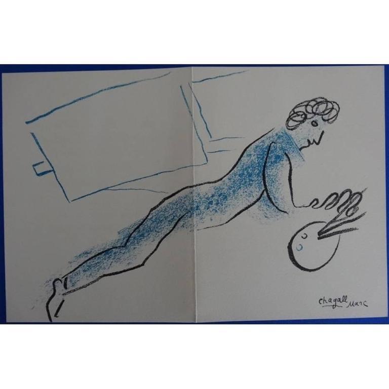 Marc Chagall - The Blue Painter - Original Lithograph