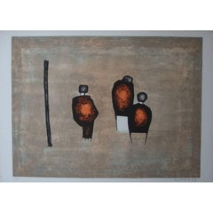 Witold K - Three Characters - Original Lithograph