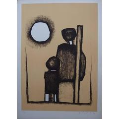 Witold K - In Front of the Sun - Original Lithograph