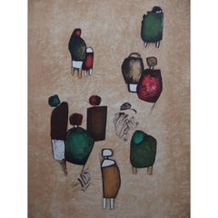 Witold K - Little Happy Group - Original Lithograph
