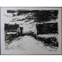 Maurice de Vlaminck - House in Beauce - Signed Lithograph