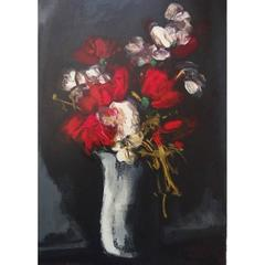 Maurice de Vlaminck - Roses - Signed Lithograph