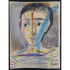 Pablo Picasso - Man with Sailor Blouse - Signed Beautiful Litograph
