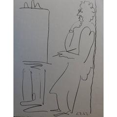 Pablo Picasso - The Painter - Signed Beautiful Lithograph