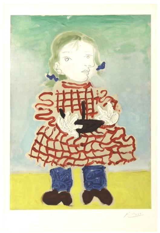 (after) Pablo Picasso Figurative Print - Maya in a Pinafore