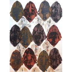 Arman - Masks accumulation - Original Signed Lithograph