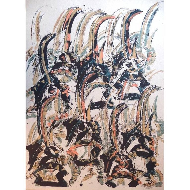 Arman - Tchi Wara - Original Signed Lithograph
