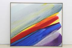 Paul Jenkins, Phenomena Wind Branch - Monumental Signed - Oil on Canvas