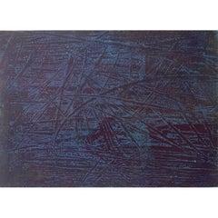 Simon Hantai - 'Tabula' - Rare Original Oil Painting