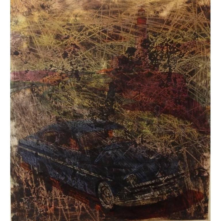 Simon Hantai - 'Buick' - Rare Original Oil Painting