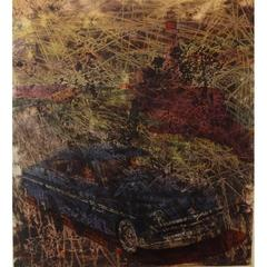 Simon Hantai - 'Buick' - Rare Original Oil Painting