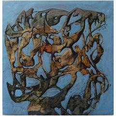 Simon Hantai - 'Entrelacs' - Rare Original Oil Painting