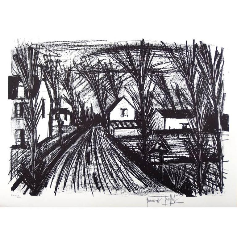 Bernard Buffet, 1928-1999 - Bernard Buffet - Farm Road - Original ...