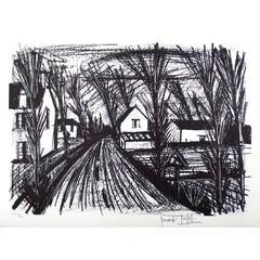 Bernard Buffet - Farm Road - Original Hand Signed Lithograph