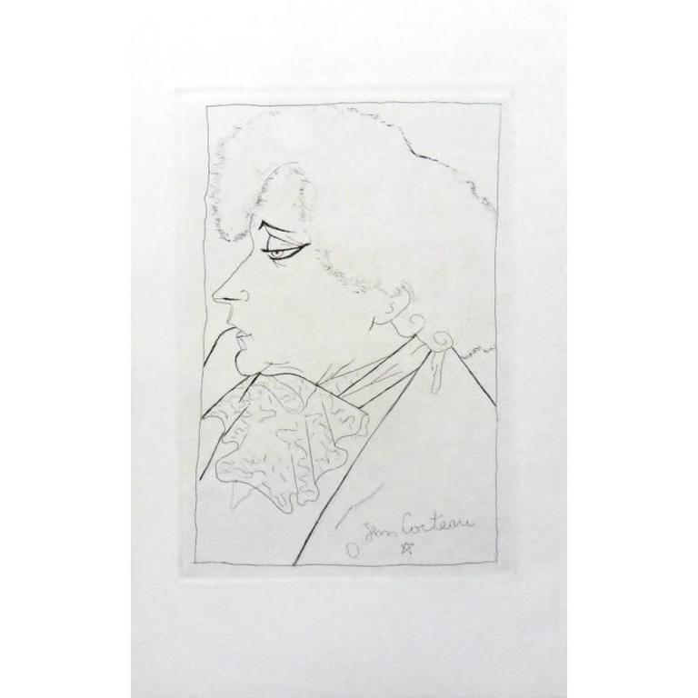 Jean Cocteau - Colette's Portrait - Original Lithograph