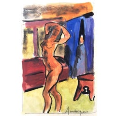 Pierre Ambrogiani - The Model - Signed Painting
