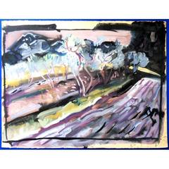 Pierre Ambrogiani - Landscape With Olive Trees - Signed Painting