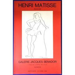 "Vintage Exhibition Poster - ""Matisse - Dessins"", Galerie Benador"