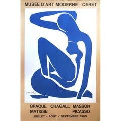 "Vintage exhibition poster - ""Henri Matisse - Musée Ceret"""