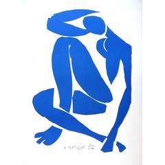 after Henri Matisse - Sitting Blue Nude