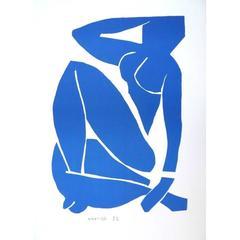 Original Lithograph - Henri Matisse - Resting Blue Nude