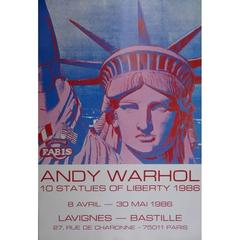 Vintage Exhibition Poster - after Andy Warhol - Statues of Liberty