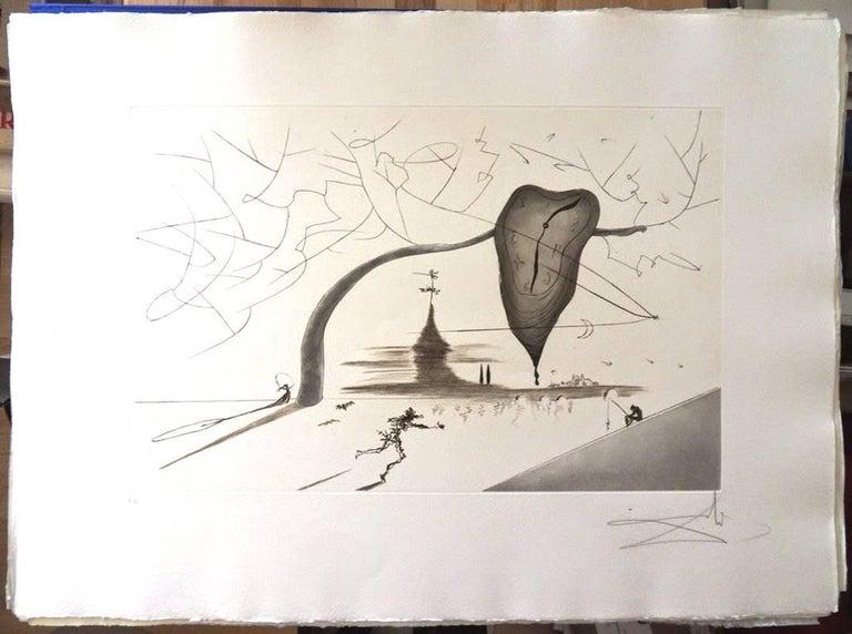 Salvador Dali - Aurelia - Rare Portfolio of 4 Large Hand-Signed Etchings