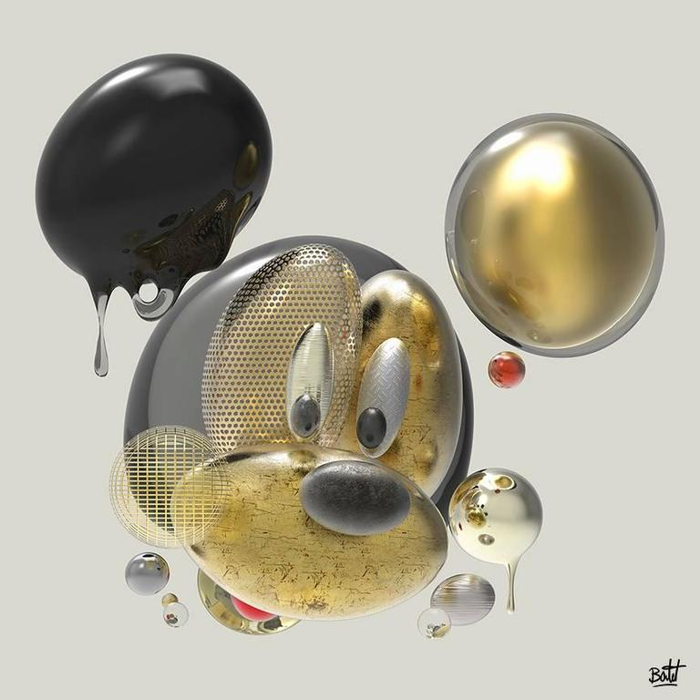 Boutet - Mickey - Painted love - Digital Sculpture