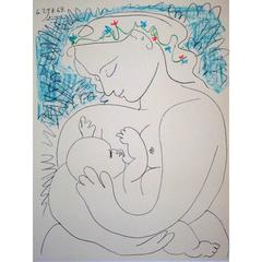 Pablo Picasso - Maternity - Signed Lithograph