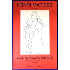 "Vintage Exhibition Poster, ""Henri Matisse - Dessins,"" Galerie Benador 1980"