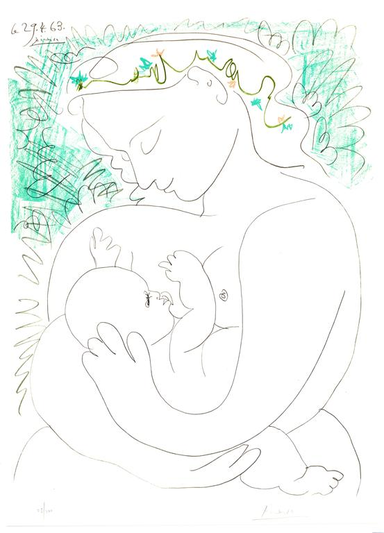 after) Pablo Picasso - After Pablo Picasso - Handsigned Lithograph ...