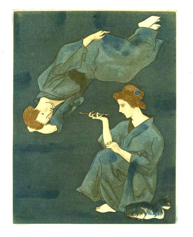 """Tsuguharu Foujita - """"Mme. Prune's Young Life"""", 10 Aquatints"""