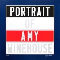 "Joel Duccoroy - ""Portrait of Amy Winehouse"", Signed Serigraphy"
