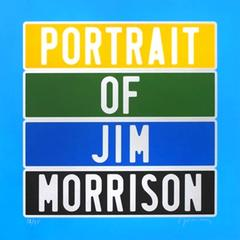 "Joel Duccoroy - ""Portrait of Jim Morrison"", Signed Serigraphy"