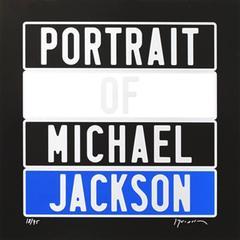 "Joel Duccoroy - ""Portrait of Michael Jackson"", Signed Serigraphy"