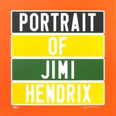 "Joel Duccoroy - ""Portrait of Jimi Hendrix"", Signed Serigraphy"