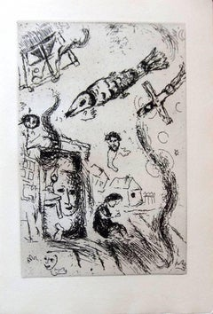 Marc Chagall - Letter to Chagall - Handsigned - Illustrated 5 original etchings