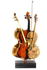 Arman - Arman - Rare Signed Violin Sculpture
