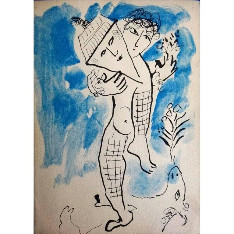 Marc Chagall - Man With House - Original Lithograph
