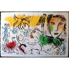 Marc Chagall - The Green Horse - Original Lithograph