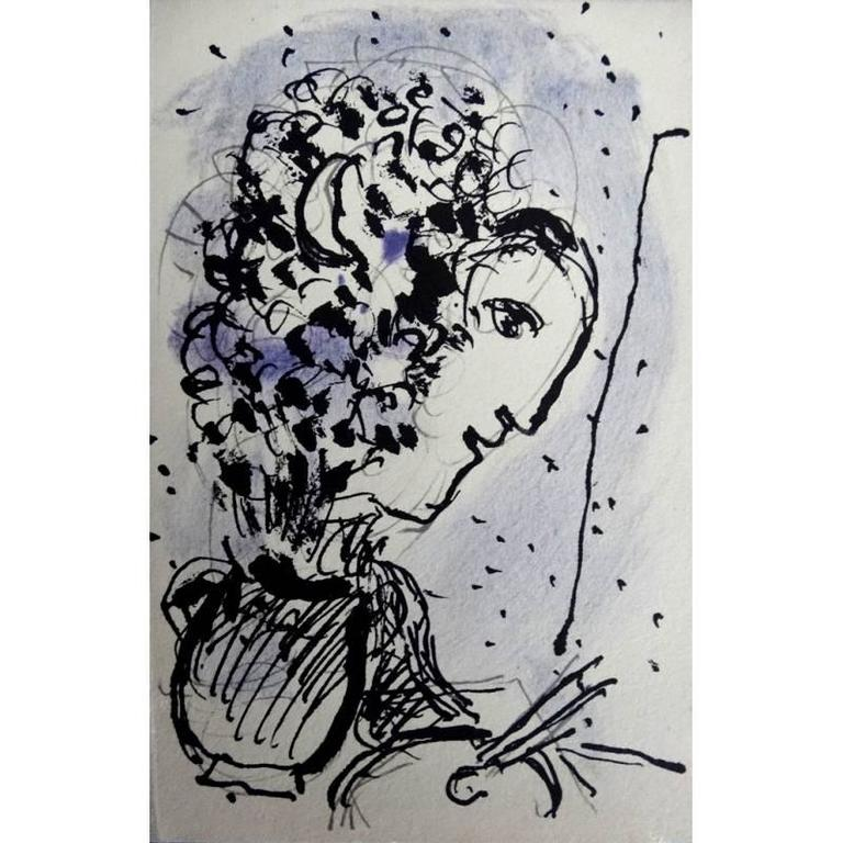 Marc Chagall - Painter with Pallet - Original Lithograph