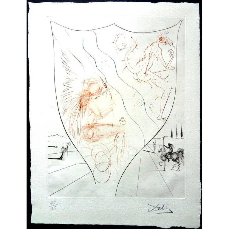 Salvador Dalí Figurative Print - Salvador Dali - Alexis - Unique Original HandSigned Etching