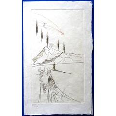 Salvador Dali - The Bishop - Original HandSigned Etching