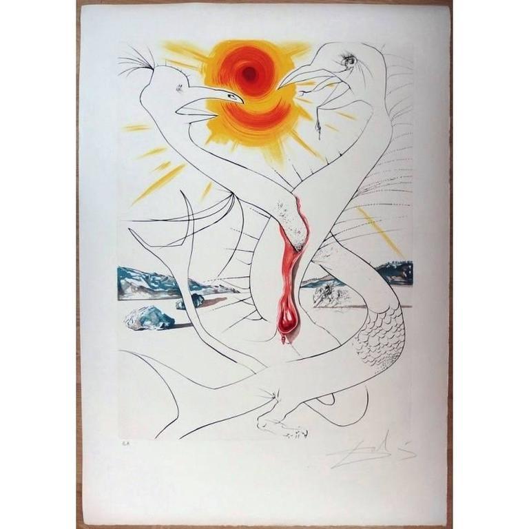 Salvador Dali - The Caduceus of Mars - Original HandSigned etching