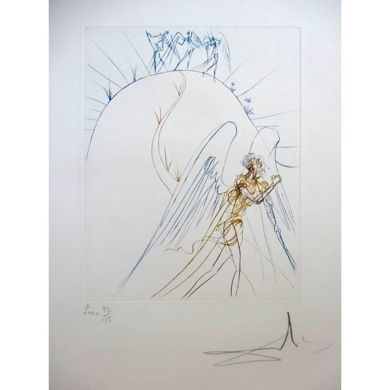 Salvador Dalí Print - Salvador Dali - The Lost Paradise - Original HandSigned etching