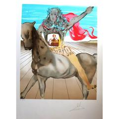 Salvador Dali - Homage to Velasquez - Original HandSigned Lithograph