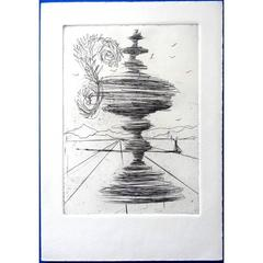 Salvador Dali - The Fountain - Original Etching